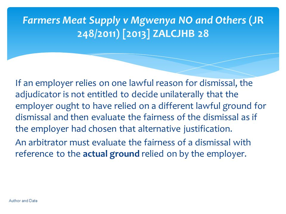 Farmers Meat Supply v Mgwenya NO and Others (JR 248/2011) [2013] ZALCJHB 28